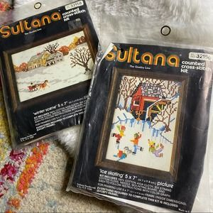 Vintage Sultana Counted Cross Stitch Kits Winter